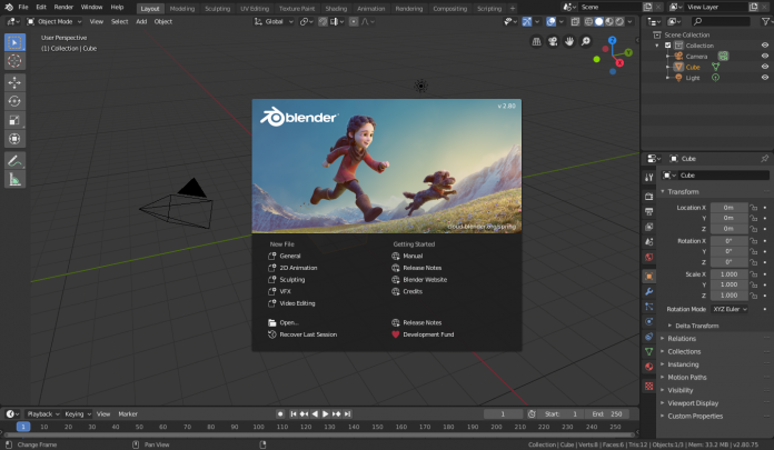 Blender 2.8 Software