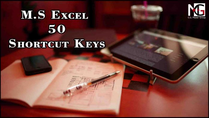 M.S Excel Shortcuts Keys