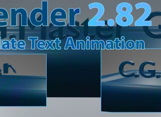 Blender Animation how to create chocolatetext