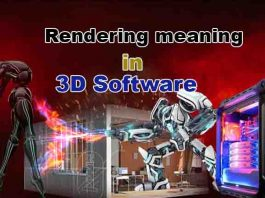 Rendering meaning in 3d Software