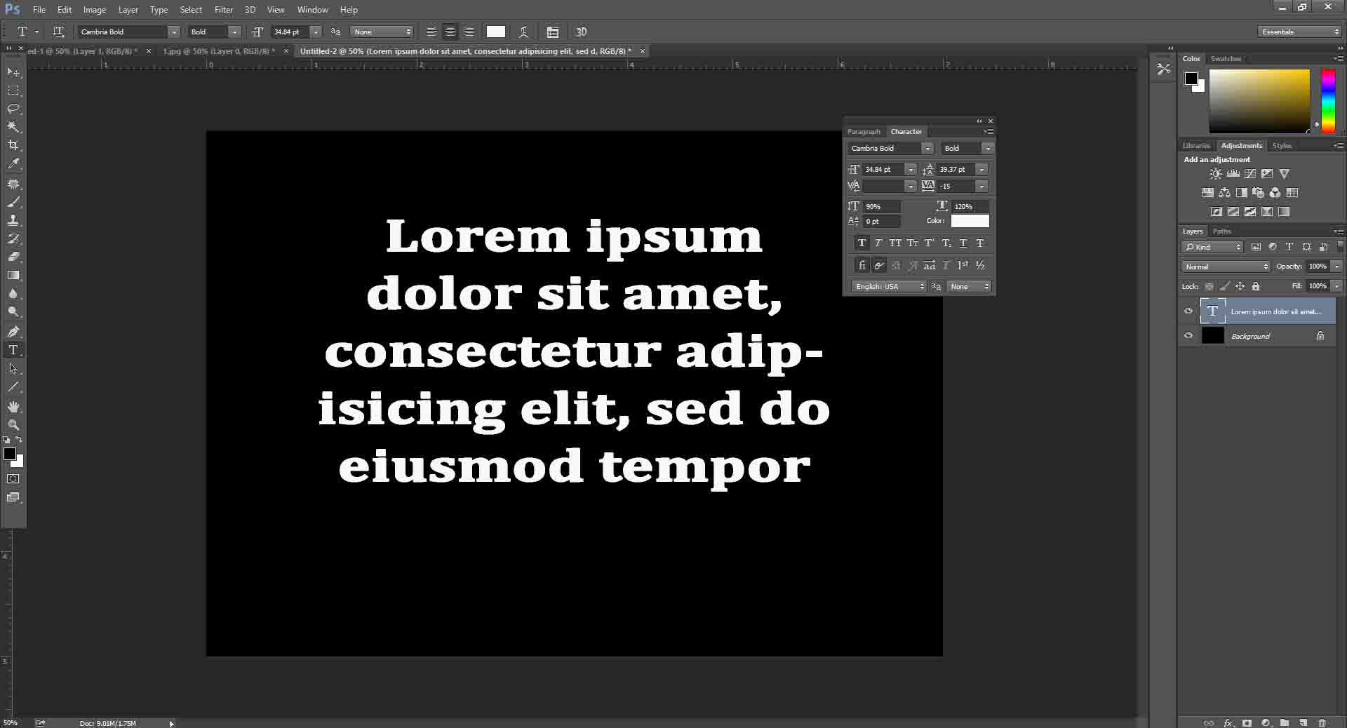 Typography in Photoshop