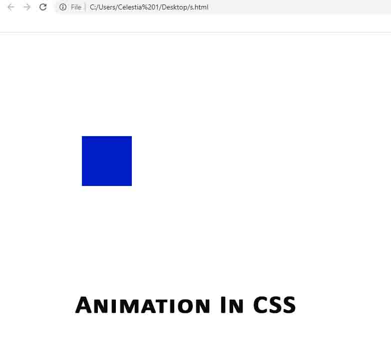 Animation in CSS