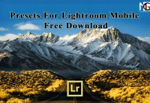 Presets For Lightroom Mobile
